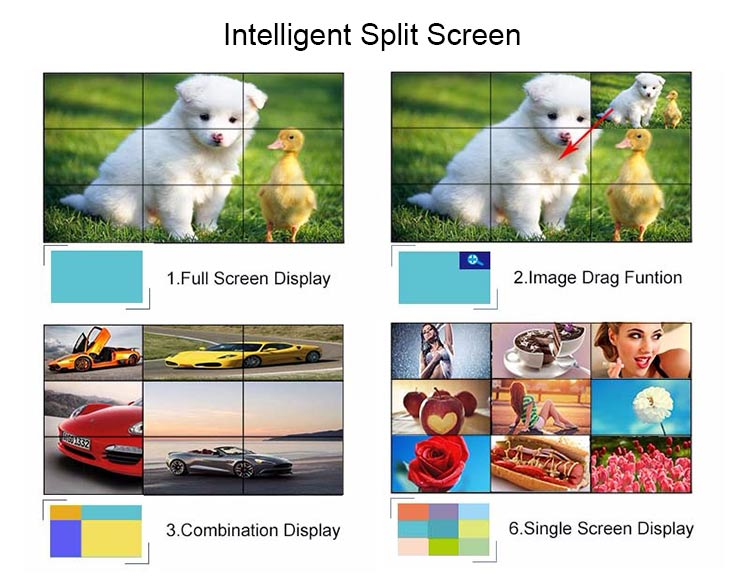 Indoor Cheap 55 Inch Interactive 4k Lcd Video Wall Screen