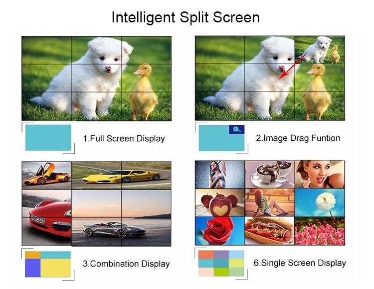 splitscreen lcd wall