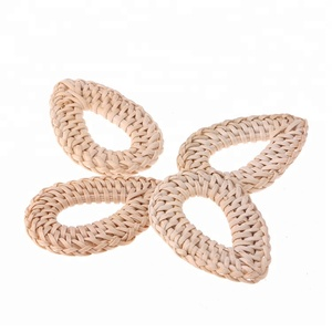DIY Creative Handicrafts Made Of Rattan Jewelry Accessories Parts Unfinished Rattan Earrings Pendant