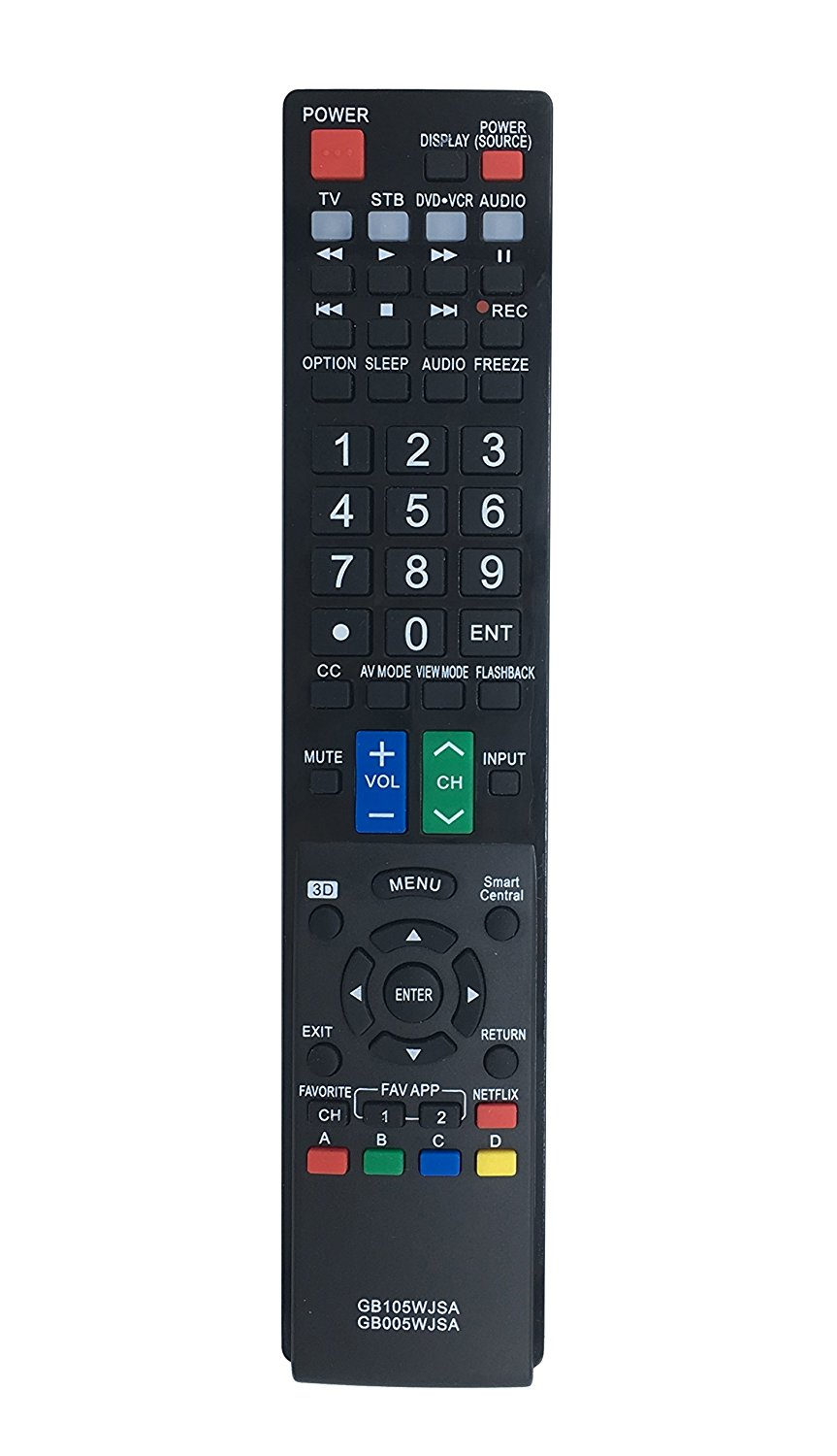 ECONTROLLY New Replaced Remote GB005WJSA for SHARP AQUOS TV GB004WJSA GA935WJSA GA890WJSA GB105WJSA Remote Control