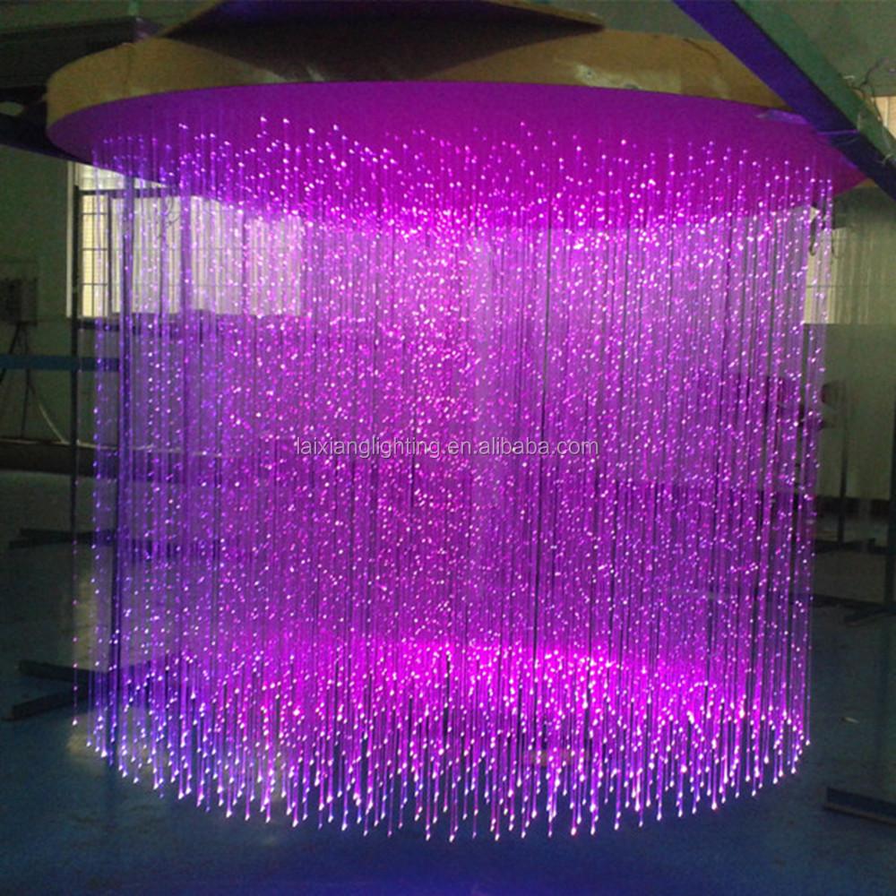 Rain Drop Effect Fiber Optic Chandelier
