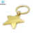 Die casting promotional star shaped metal keychain with your custom design
