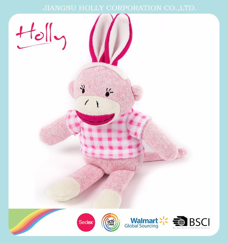 Cheap price custom long ear plush stuffed <strong>rabbit</strong> toy with best quality