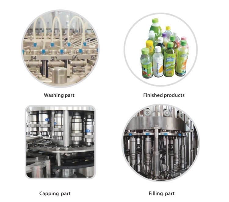 Beverage / pure water / drinks bottling filling capping machine for 250ml -2000ml glass bottle or plastic bottle