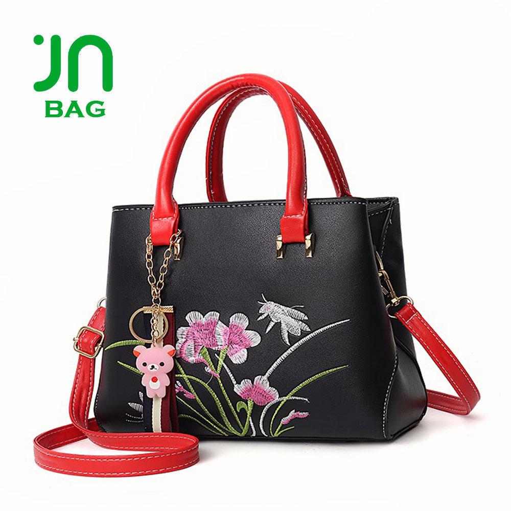 JIANUO embroidery cheap woman bag handbags wholesale china woman luxury bags be5a746fbfdb2