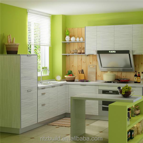 Cocina Moderna Gabinete Con Puerta Perillas En Diferentes Colores ...
