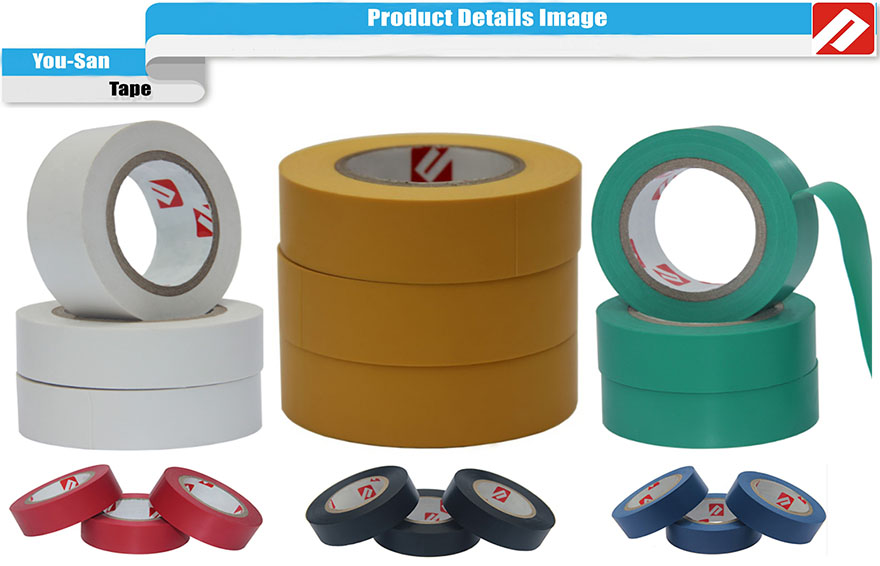 CE Approved Free Sample PVC Insulation Patterned Electrical Tape