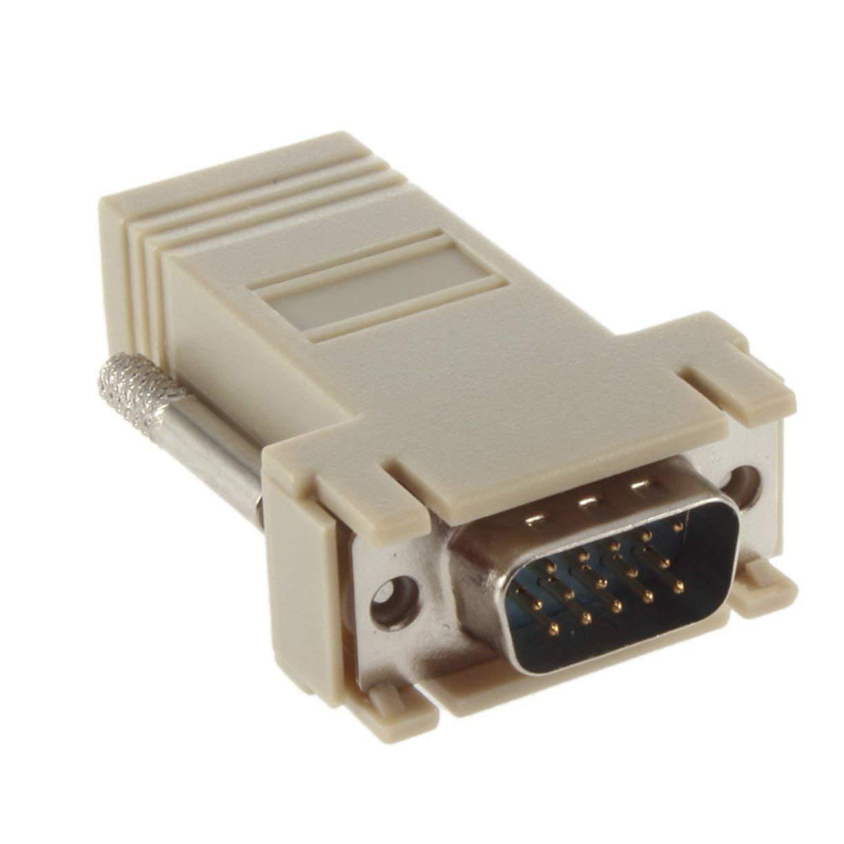 VGA Extender Male to LAN CAT5 CAT5e CAT6 RJ45 Network Cable Female Male Head Adapter, VGA Extender Male to LAN CAT5 CAT5e CAT6 RJ45 Network Cable Female Adapter Network Cable Extender Adapter