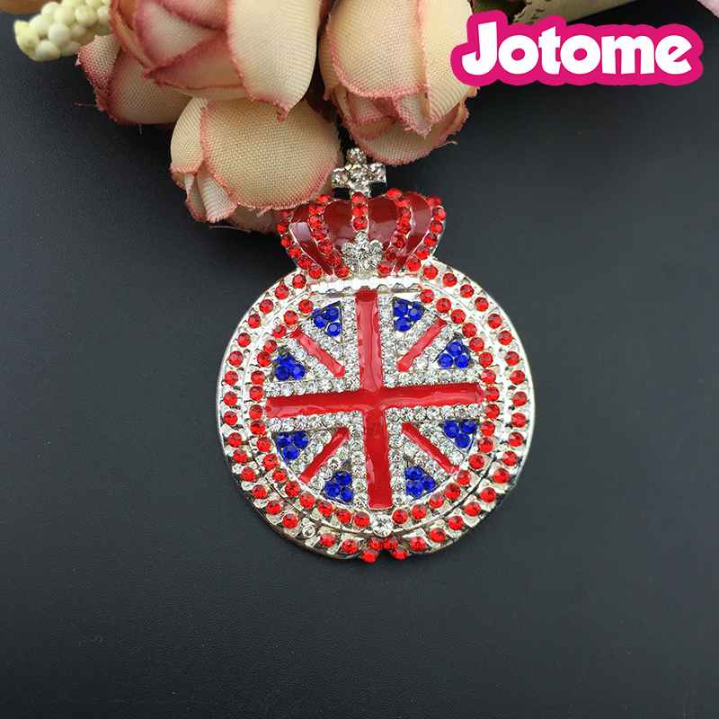 Large Union Jack with Crown Brooch ,Fancy Christmas Gifts British Flag Brooch Brooch Clothing Accessories
