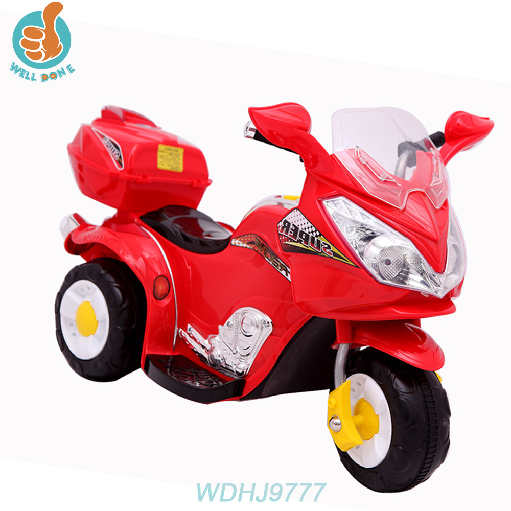 WDHJ9777 Three Wheel Children Electric Car Motor With Mp3 / Single Motor Electric For Car Hanging Car