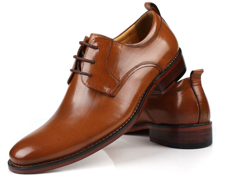 Free Shipping 2017 Brand New Oxford Shoes Lace Up Round Toe Top Grade Genuine Leather Italian Mens Dress Size 6 5 11ox123