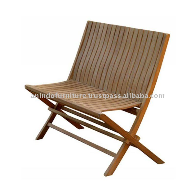 Teak Patio Furniture - Miami Folding Bench