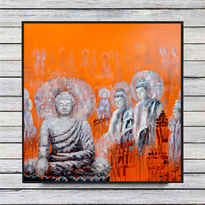 Buddha Modern Abstract Oil Painting