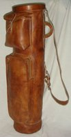 Geoffrey | Retro Cowhide Leather Mega Golf Club Bag | 2 pocket and tube
