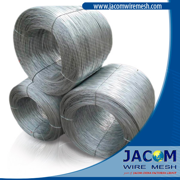 Galvanized Steel Wire, 1.25mm or 18 gauge BWG, Zinc Level 20 gr/m2, elongation 10 %, Weight by Coil 50kgs