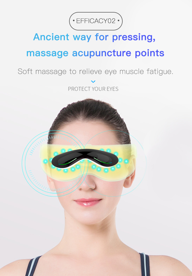 2019 new updated  portable  relaxing hot compress Vibrating eye massager  vibration wrinkle remover eye massager