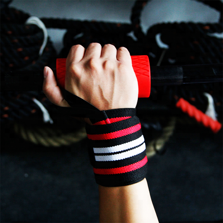 Custom Exercise Thumb Loops Weightlifting Wrist Wraps
