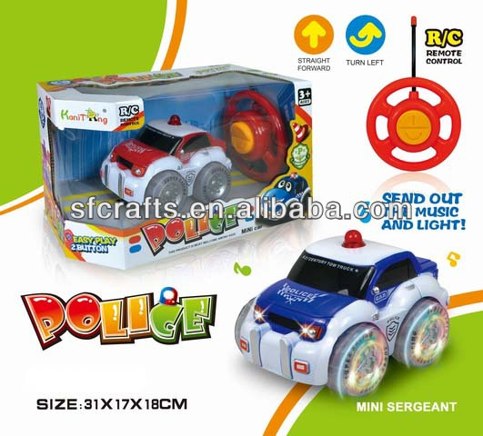 New product 2 channel electric car toy with LED light and music made in China