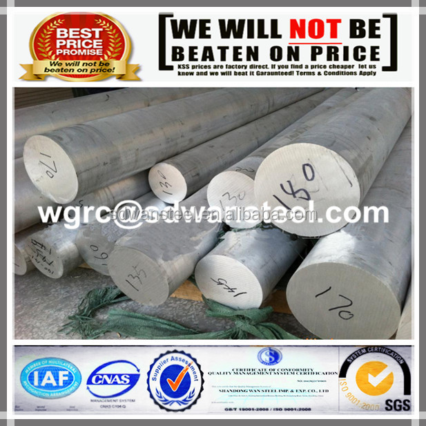 6061 6063 aluminium extruded round bar/rod for industry