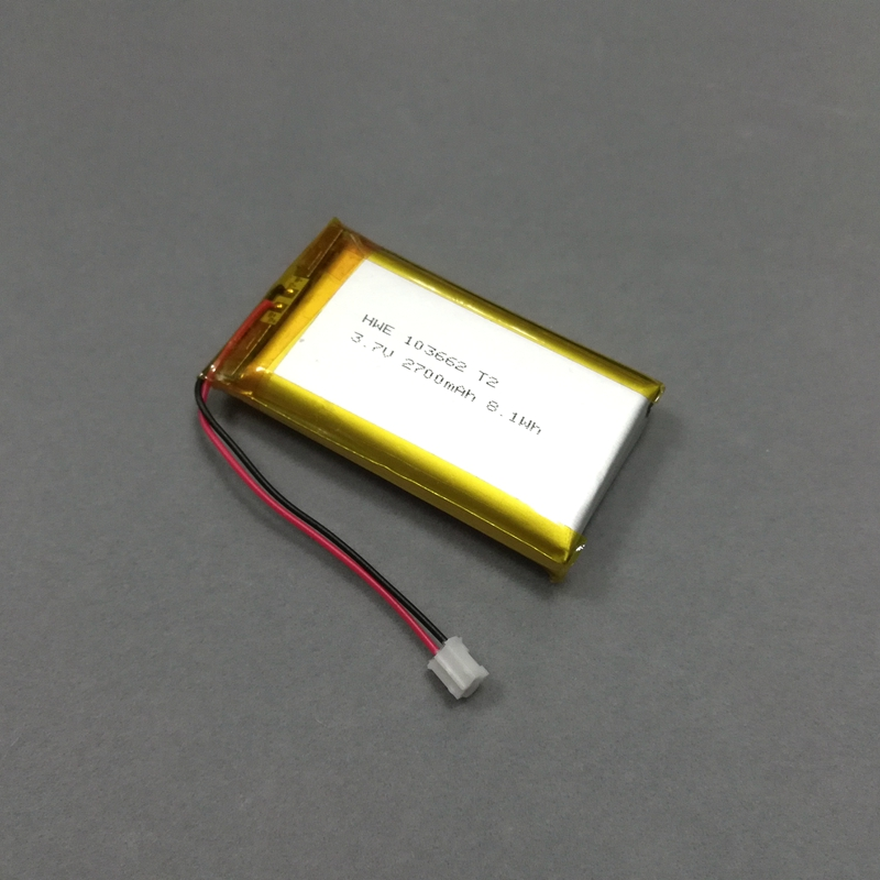 High Capacity Rechargeable 103662  2700mAh li-polymer Lipo Battery 3.7V