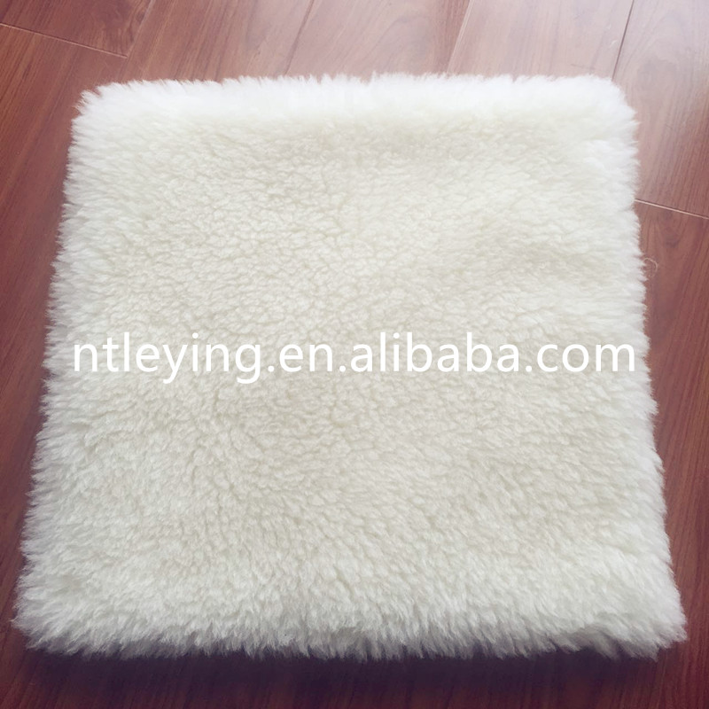Hot sale 100% wool boiled plush pillow wool sofa seat cushion cover LYFP015