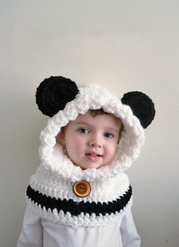 Compra ganchillo bufanda panda online al por mayor de
