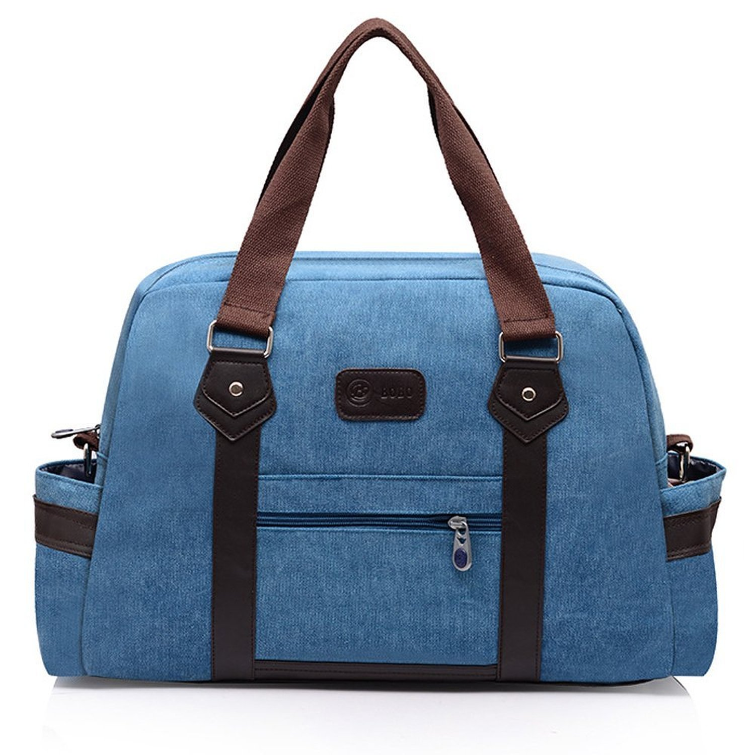 Get Quotations · Hiigoo Canvas Travel Duffle Bag for Men Women Medium Size Weekender  Bag Overnight Bag 7c8913704cf07