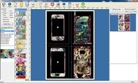daqin 3d mobile skin sticker cutter software with printing sticker machine