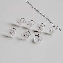 Upholstery Twist Decorative Furniture Pin 13mm with Clear Head Steel Pin