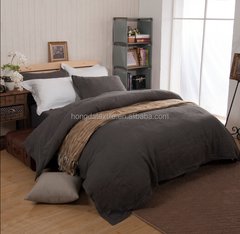 stonewashed 100% belgium linen bedding set finished in china - buy