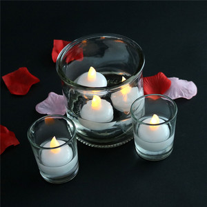 Waterproof LED Floating Tea Light, Flickering Flameless Candle Water Activated Floating Candles for Wedding, Party & Festival