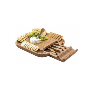 Manufacturers Custom Design Cutting Board With Knives Set Printing Bamboo Cheese Board