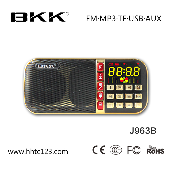 Best Buy Am Fábrica de Gravador de Rádio Fm Vender BKK Mp3 Player