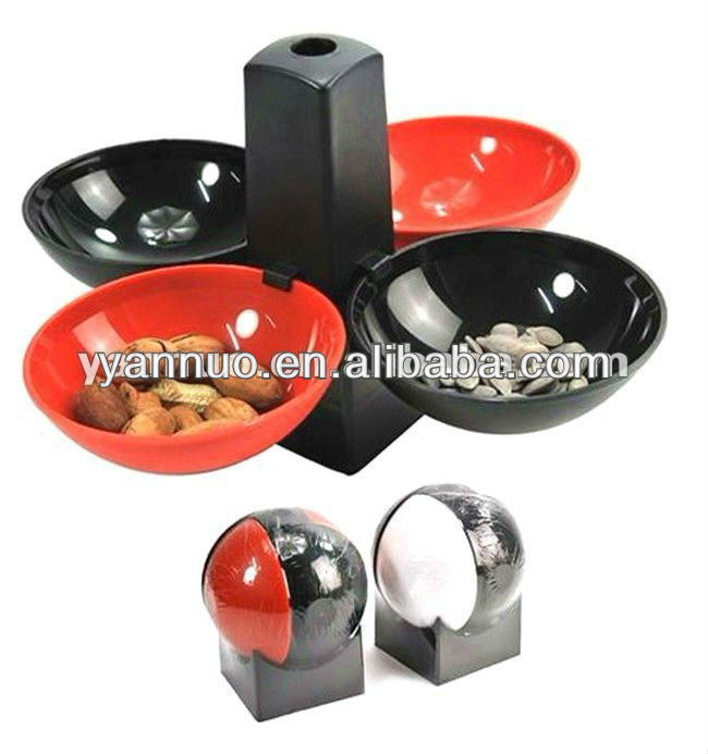 Foldable basketball shaped snack tray rack ,plastic snack dish rack