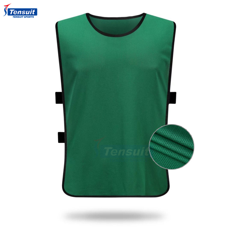100% polyester mesh sports bibs football team training vest quick dri fit soccer practice wear training bibs unisex shirts