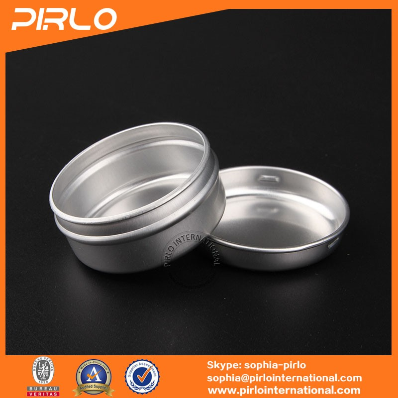 15ml 1/2oz aluminum cosmetic jar with lid for cosmetic cream hair wax lip balm