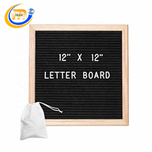 Square multi color board felt letter board with letters emojis signs numbers