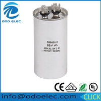 CBB65 40uF+5uF 450V aluminum case motor running capacitor for air conditioners