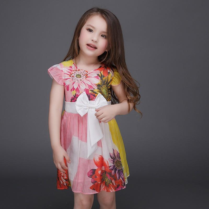 b5249f2a306c Baby Girl Summer Dress Children Froks Design Floral Casual Dress ...