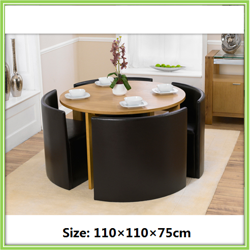 New Design Round 4 Seater Modern Dining Room Set