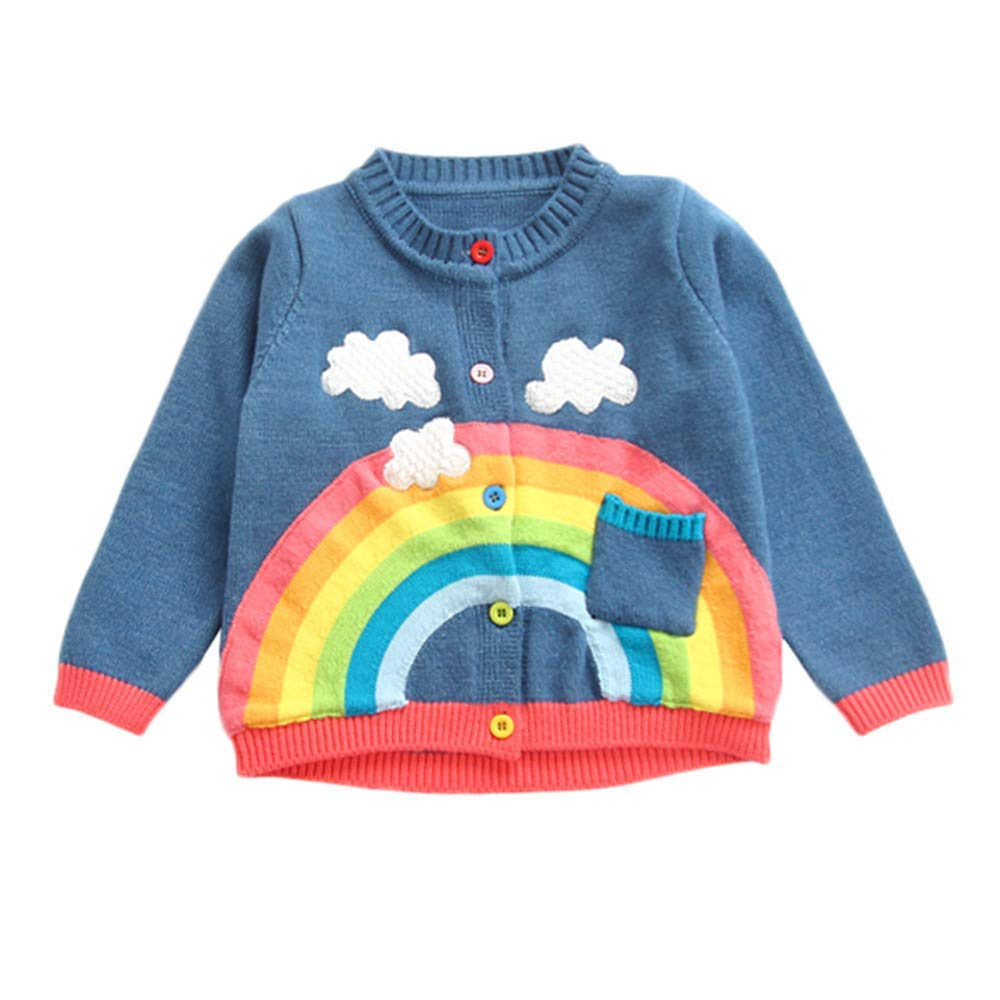 Baby Girl Clothing Clearance Winter Toddler Infant Baby Boy Botton Warm Knitted Solid Tops Sweater Outfit Coat