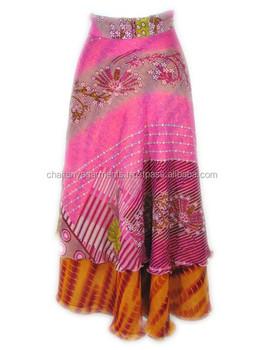 76777be7e Seda India Sari Magia Wrap Faldas Diseño Floral Mujeres Seda Envoltura Sari  - Buy Falda De Las Mujeres,Indio Falda Del Abrigo,Abrigo Largo Faldas ...