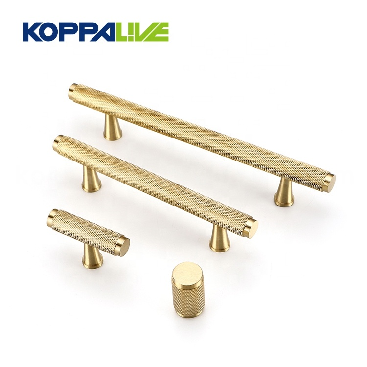 T Shape Wardrobe Cupboard Satin Solid Brass Knurled <strong>Handle</strong> Knobs Kitchen Bedroom Copper Cabinet Door Pull <strong>Handles</strong>