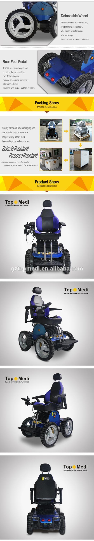 Topmedi Saudi Arabia Wheelchair off-road stair climbing Stable Powerful Electric Wheelchair