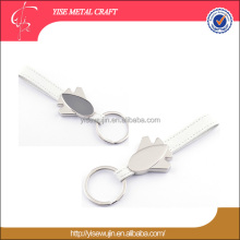 plane custom key holder business gift metal aircraft keyring with leather Foshan factory airplane keychain