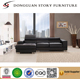 Modern Bonded Leather Sectional Sofa - Small Space Configurable Couch - Colors Black