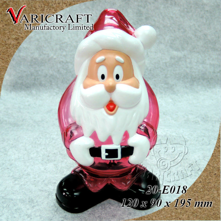 100% Food grade plastic Santa Claus moneybox for Christmas gift