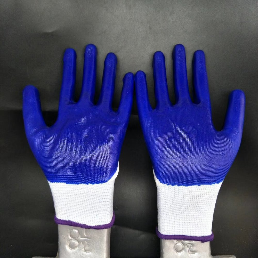 A High Level Black Color Nitrile <strong>Gloves</strong> Printed with Logo for Work