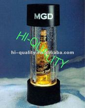 2012 Hot Sale LED Box Acrylic Beer Display stand with logo lighting