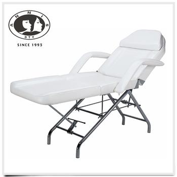 facial esthetician bed w/white esthetician,technician stool